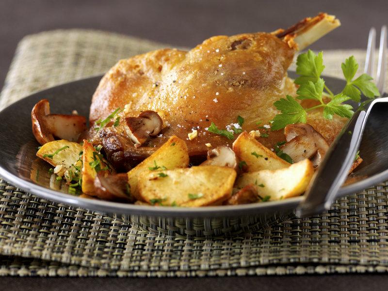Cuisses de canard confites et ch teau fombrauge 2006 - Cuisiner des cuisses de canard confites ...