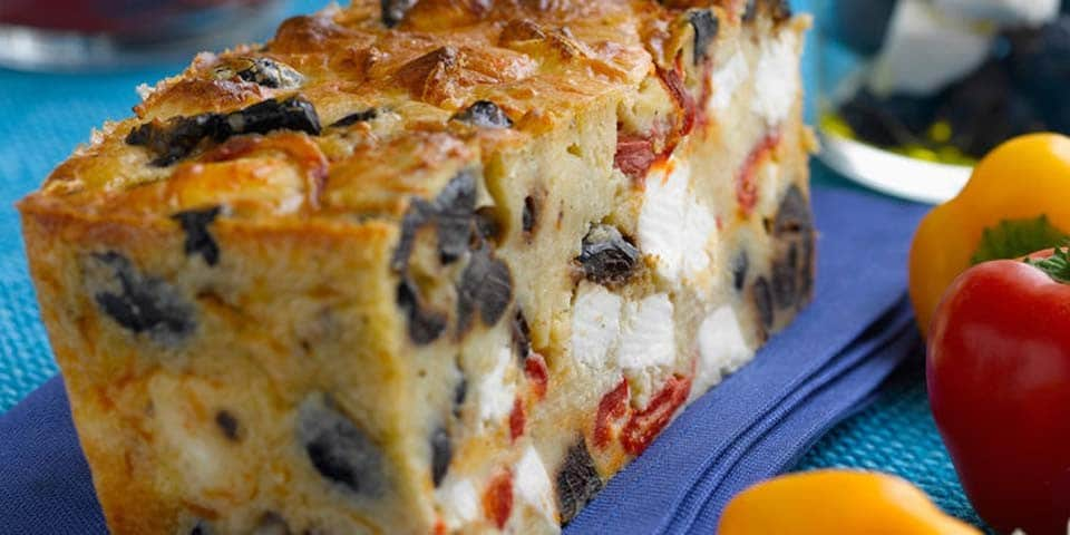 Cake Sale Feta Olive Pour Aperitif